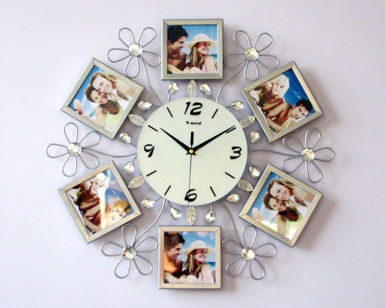 Настенные часы из фоторамок своими руками 940